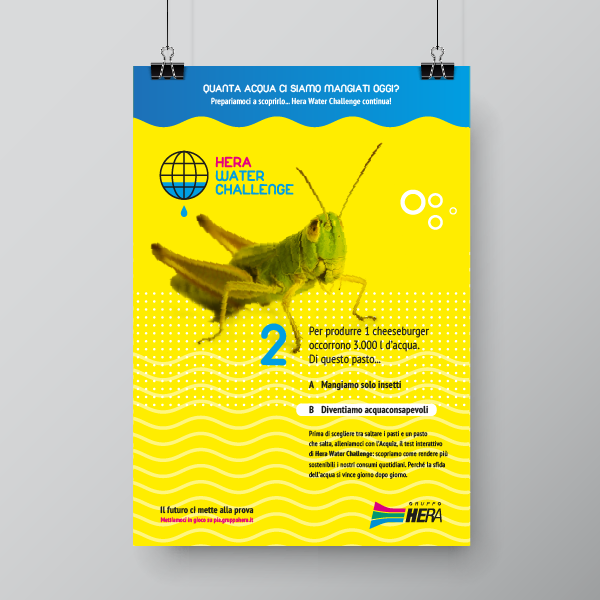 HERA WATER CHALLENGE poster soggetto 2