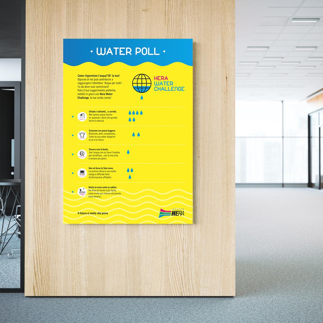 HERA Water Poll poster interattivo